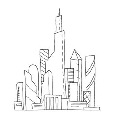 City future hand drawn sketch vector