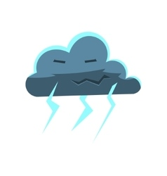 Cloud with lightening bolts vector