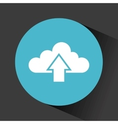 cloud with upload arrow vector image