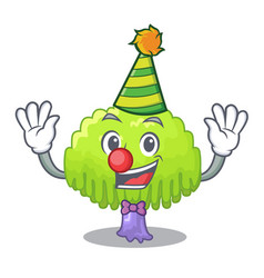 Clown willow tree branch for frame cartoon vector