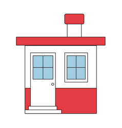 Color sections silhouette of small house with vector