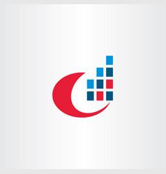 computer data internet digital information logo vector image