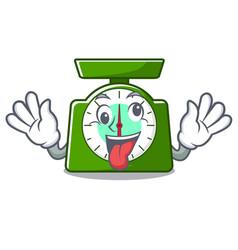 Crazy kitchen scale mascot cartoon vector