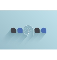 creative flat ui icon on blue background vector image