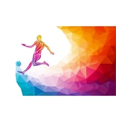 creative silhouette soccer player football vector image