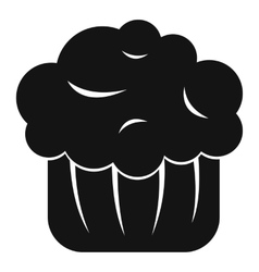Cupcake icon simple style vector