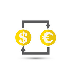 currency exchange outline icon vector image
