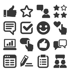 Customer reviews and feedback icon set vector