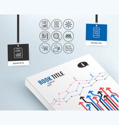 Cv documents queue and user idea icons shopping vector