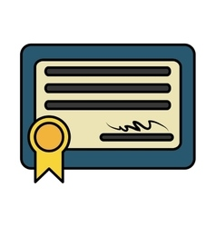diploma certificate graduation isolated icon vector image