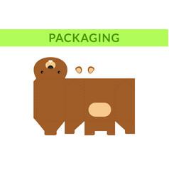 Diy party favor box for birthdays bashowers vector