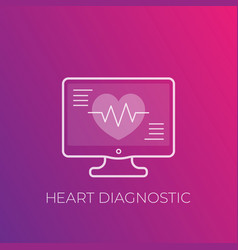 ecg heart diagnostic electrocardiography icon vector image