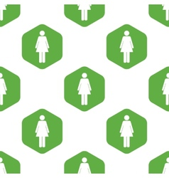 Female sign pattern vector image