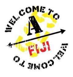 Fiji stamp rubber grunge vector