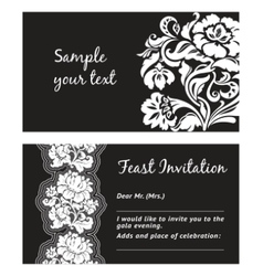 Flower lace greeting card space for your text vector
