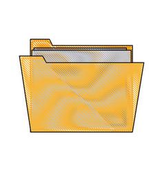 folder file paper document archive icon vector image