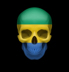Gabonese flag skull vector