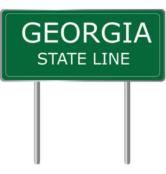 Georgia state line green road sign us state line vector