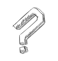hand draw question mark vector image