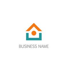 house shape icon design logo vector image