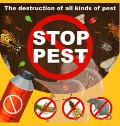 Insects extermination and pest control banner vector