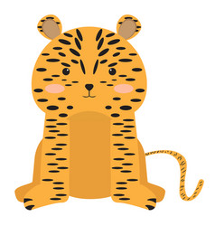 Isolated stuffed leopard toy vector