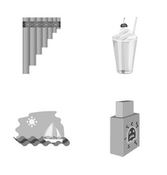 Knowledge drawing rest and other monochrome icon vector