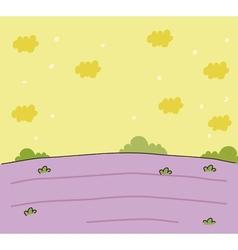landscape sketch vector image