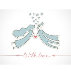 loving man and woman vector image