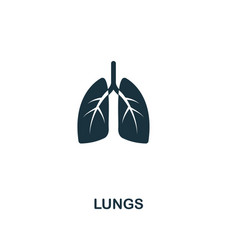 lungs icon premium style design from healthcare vector image