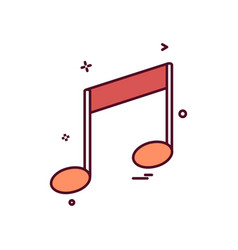 music media sound icon design vector image
