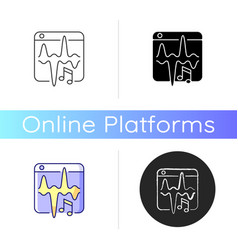music streaming service icon vector image