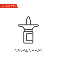 Nasal spray icon vector