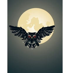 Owl and Full Moon vector image