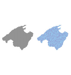 Pixel spain mallorca island map abstractions vector