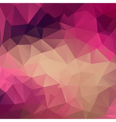 Polygon abstract texture in pink colors vector image