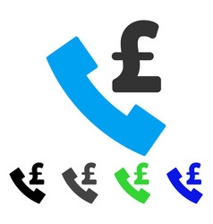 Pound payphone flat icon vector