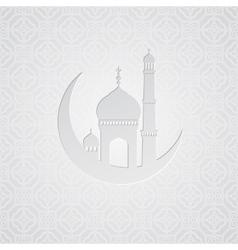 Ramadan greetings card background vector