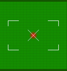 rectangular crosshair target mark with cross at vector image
