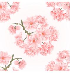 Seamless texture twig tree sakura blossoms vector