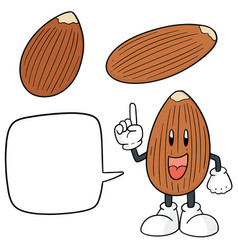 Set almond vector