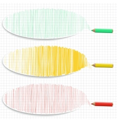 Set of colorful horizontal banners with hatching vector