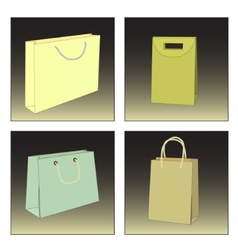 several shopping bags vector image