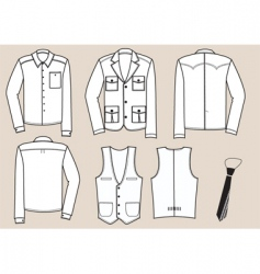 shirts man vector image