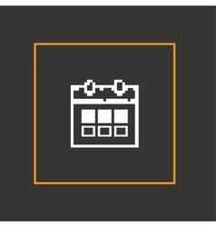 Simple stylish pixel icon calendar design vector image