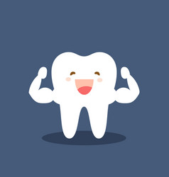 single white and very strong muscle healthy tooth vector image
