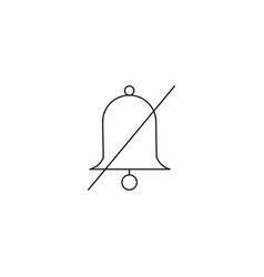 Sound mute bell line icon outline sign linear vector