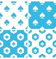 Spades patterns set vector