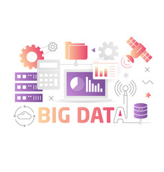Technology big data vector