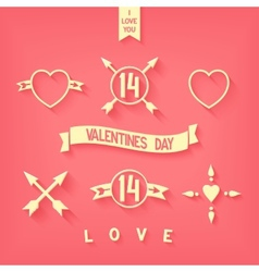 Tender flat design love iconsimbols details vector image